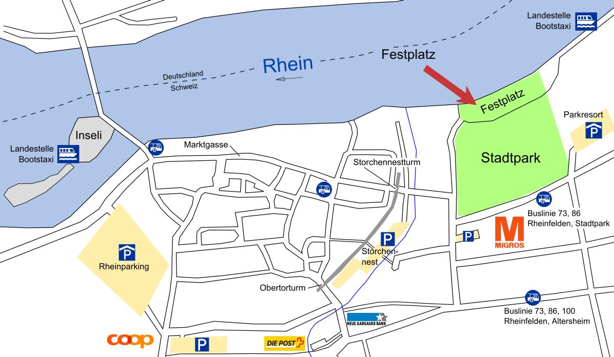 Plan Festplatz Stadtpark